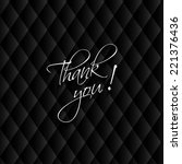 thank you card  modern leather... | Shutterstock .eps vector #221376436