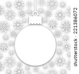 illustration christmas paper... | Shutterstock .eps vector #221386072
