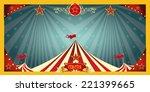 fun circus banner. a fun circus ... | Shutterstock .eps vector #221399665