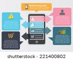 smart phone infographic design... | Shutterstock .eps vector #221400802
