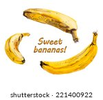 bananas  healthy food.... | Shutterstock .eps vector #221400922