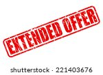 extended offer red stamp text... | Shutterstock .eps vector #221403676