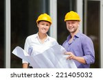 construction manager and... | Shutterstock . vector #221405032