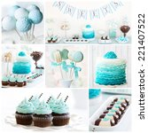 collection of dessert table... | Shutterstock . vector #221407522