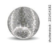 disco ball. disco background | Shutterstock .eps vector #221414182
