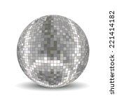 disco ball. disco background | Shutterstock .eps vector #221414182