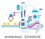 vector industrial illustration... | Shutterstock .eps vector #221416132