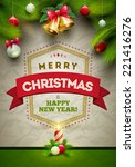 vector christmas messages and... | Shutterstock .eps vector #221416276