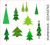 christmas trees background on... | Shutterstock . vector #221416762