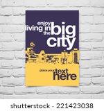 vector pop art poster with city ... | Shutterstock .eps vector #221423038