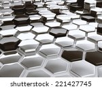 modern abstract 3d... | Shutterstock . vector #221427745
