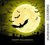 happy halloween background with ... | Shutterstock . vector #221428042