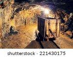 Mine Gold Underground Tunnel...