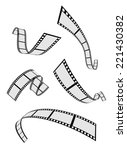 film strip roll 3d set design | Shutterstock .eps vector #221430382