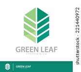 green leaf condominium logo... | Shutterstock .eps vector #221440972