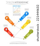 timeline infographic new style  ... | Shutterstock .eps vector #221444632
