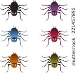spiders  multicolored spiders...   Shutterstock .eps vector #221457892