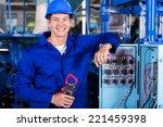 portrait of industrial... | Shutterstock . vector #221459398