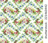 wild flowers seamless pattern... | Shutterstock .eps vector #221463442