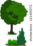 tree bush | Shutterstock .eps vector #221465572