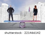 equality woman man concept | Shutterstock . vector #221466142