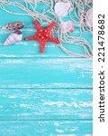 decor of seashells close up on... | Shutterstock . vector #221478682