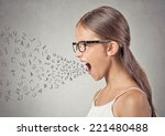 side view portrait angry child... | Shutterstock . vector #221480488