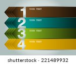 colorful modern text box... | Shutterstock .eps vector #221489932