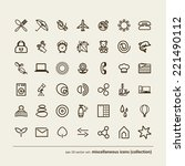 set   miscellaneous icons ... | Shutterstock .eps vector #221490112