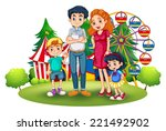 illustration of a family at the ... | Shutterstock . vector #221492902