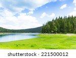 Beautiful View Of Blue Lake An...