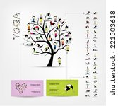 Business Cards Design  Yoga Tree