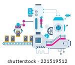 vector industrial illustration... | Shutterstock .eps vector #221519512