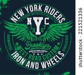 new york riders | Shutterstock .eps vector #221521336