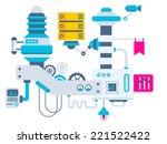 vector industrial illustration... | Shutterstock .eps vector #221522422