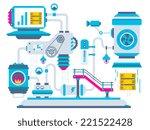 vector industrial illustration... | Shutterstock .eps vector #221522428