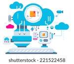 vector industrial illustration... | Shutterstock .eps vector #221522458