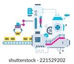 vector industrial illustration... | Shutterstock .eps vector #221529202
