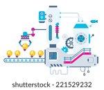 vector industrial illustration... | Shutterstock .eps vector #221529232