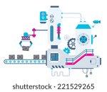 vector industrial illustration... | Shutterstock .eps vector #221529265