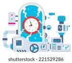 vector industrial illustration...   Shutterstock .eps vector #221529286
