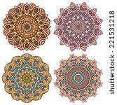 mandala. round ornament pattern.... | Shutterstock .eps vector #221531218