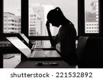 stressed businesswoman | Shutterstock . vector #221532892