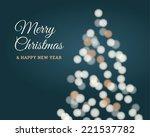christmas card  christmas tree... | Shutterstock .eps vector #221537782