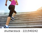 runner athlete running on... | Shutterstock . vector #221540242