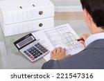 auditor investigating fraud... | Shutterstock . vector #221547316