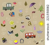 the pattern for children with... | Shutterstock .eps vector #221550082