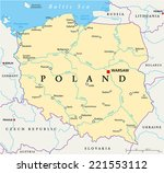 poland political map with...   Shutterstock .eps vector #221553112