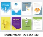 set collection of modern trendy ... | Shutterstock .eps vector #221555632