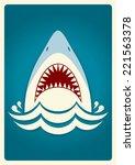 Shark Jaws.vector Blue...
